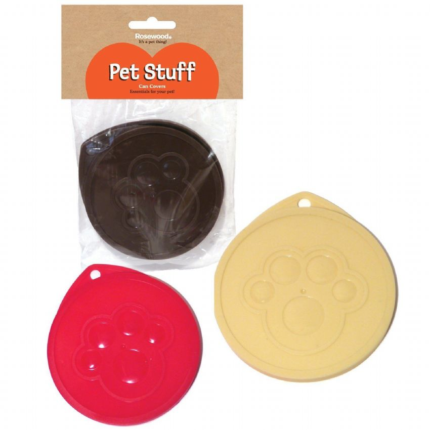 Pet food can covers pack of three